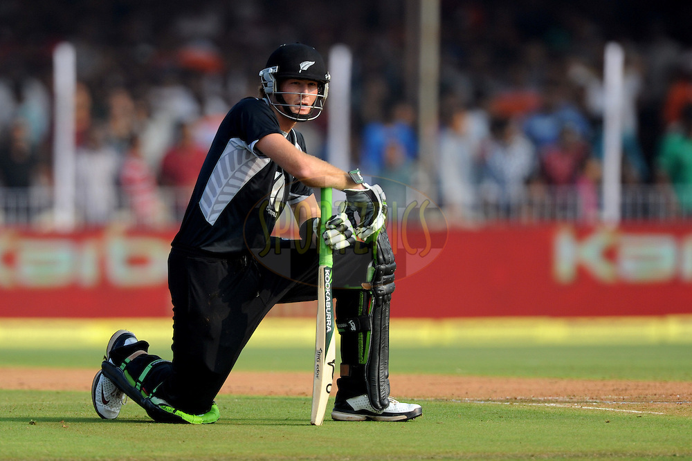 Martin Guptill of New Zealand wait for the third umpire's decision during the 3rd ODI ( One Day International ) between India and New Zealand held at the Reliance cricket stadium in Vadodara, Gujarat India on the 4th December 2010...Photo by Pal Pillai/BCCI/SPORTZPICS