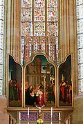 Albrechtsburg, Dom, Altar, Meißen, Sachsen, Deutschland.|.Albrechtsburg, cathedral, altar, Meissen, Saxony, Germany.