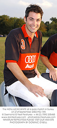 The HON.LUCAS WHITE at a polo match in Surrey on 21st September 2002.PDJ 185
