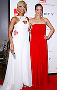 Keri Hilson and Katharina Harf pose at the 5th Annual DKMS Gala at Cipriani Wall Street in New York City on April 28, 2011.