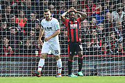 Jermain Defoe (18) of AFC Bournemouth has his hands on his head after going close to scoring during the Premier League match between Bournemouth and Crystal Palace at the Vitality Stadium, Bournemouth, England on 7 April 2018. Picture by Graham Hunt.