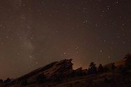 The Milky Way is seen over Red Rocks Amphitheater on May 12, 2014.