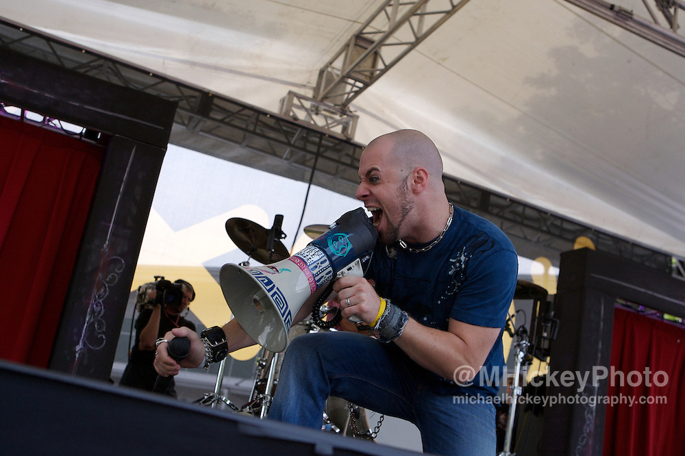 Daughtry performs before the Indianapolis 500 at the Indianapolis Motor Speedway on May 27, 2007. Photo by Michael Hickey