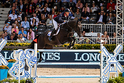 Staut Kevin, FRA, Calevo 2<br /> Rotterdam - Europameisterschaft Dressur, Springen und Para-Dressur 2019<br /> Longines FEI Jumping European Championship - 1st part - speed competition against the clock<br /> 1. Runde Zeitspringen<br /> 21. August 2019<br /> © www.sportfotos-lafrentz.de/Dirk Caremans
