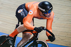 March 2, 2019 - Pruszkow, Poland - Harrie Lavreysen of the Netherlands competes in the Men's sprint qualifying race on day four of the UCI Track Cycling World Championships held in the BGZ BNP Paribas Velodrome Arena on March 02 2019 in Pruszkow, Poland. (Credit Image: © Foto Olimpik/NurPhoto via ZUMA Press)