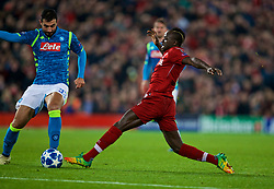 LIVERPOOL, ENGLAND - Tuesday, December 11, 2018: Liverpool's Sadio Mane during the UEFA Champions League Group C match between Liverpool FC and SSC Napoli at Anfield. (Pic by David Rawcliffe/Propaganda)