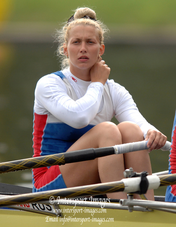 Amsterdam, HOLLAND, RUS W2X , bow Yulia KALINOVSKAYA, at  the start,  at the 2007 FISA World Cup Rd 2 at the Bosbaan Regatta Rowing Course. [Date] [Mandatory Credit: Peter Spurrier/Intersport-images]..... , Rowing Course: Bosbaan Rowing Course, Amsterdam, NETHERLANDS