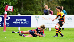 Lillian Stoeger of Bristol Ladies scores her sides second try - Mandatory by-line: Craig Thomas/JMP - 17/09/2017 - Rugby - Cleve Rugby Ground  - Bristol, England - Bristol Ladies  v Richmond Ladies - Women's Premier 15s