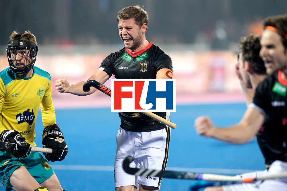 Odisha Men's Hockey World League Final Bhubaneswar 2017<br /> Match id:05<br /> 05 GER v AUS (Pool B)<br /> Foto: Martin Haner scores 2-2.<br /> WORLDSPORTPICS COPYRIGHT FRANK UIJLENBROEK