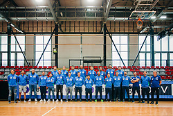 Players pose for a photo during the meeting after COVID-19 of Slovenian handball national team at dvorana Kodeljevo on May 26th 2020, Ljubljana, Slovenia. Photo by Sinisa Kanizaj / Sportida