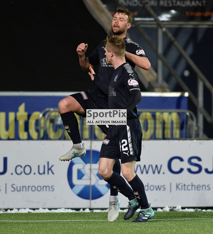 Rory Loy (Falkirk) celebrates scoring Falkirk's second goal during the Scottish Championship match between Falkirk and Brechin City at the Falkirk Stadium.<br /> <br /> <br /> (c) Dave Johnston | SportPix.org.uk