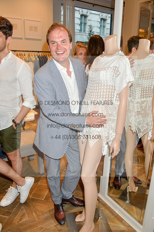 LORD DALMENY at the Club Monaco Summer Cocktail party held at their store at 33 Sloane Square, London on 20th July 2016.