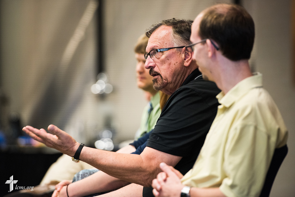 The Rev. Roger Sassaman, pastor of Peace Lutheran Church in Owensboro, Ky. participates in a panel discussion during the Post Seminary Applied Learning and Support (PALS) Facilitator Training Conference at the International Center of The Lutheran Church–Missouri Synod on Tuesday, August 4, 2015, in Kirkwood, Mo. LCMS Communications/Erik M. Lunsford
