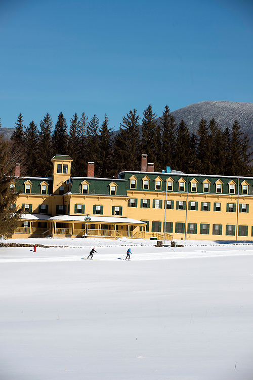 Cross country skiing at Bread Loaf in Ripton, Vermont.