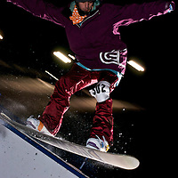 Rail action under the lights at Bogus Basin.