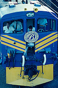 Blue Train locomotive change at Beaufort West.