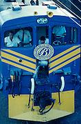 Blue Train locomotive change at Beaufort West.