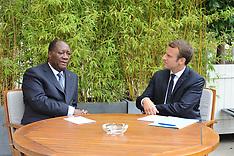 President Emmanuel Macron meets Alassane Ouattara - 31 Aug 2017