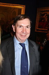 LORD IRVINE OF LAIRG at a reception hosted by Brian Ivory Chairman of the Trustees of The National Galleries of Scotland to commemorate Sir Timothy Clifford's 21 years of Director of the National Gallery of Scotland and his forthcoming retirement in January 2006, held at Christie's, King Street, London W1 on 6th December 2005.<br />