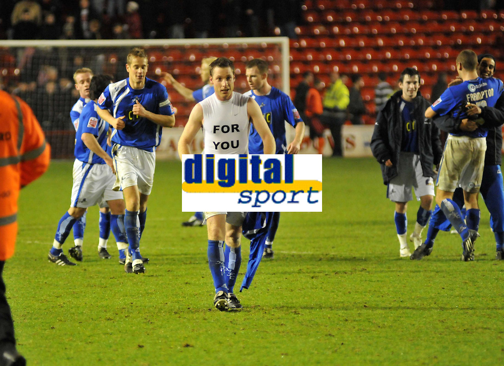 Photo: Tony Oudot/Richard Lane Photography. Walsall v Milwall. Coca-Cola Football League One. 13/12/2008. <br /> Neil Harris of Millwall celebrates at the end of the match after breaking the clubs goal scoring record