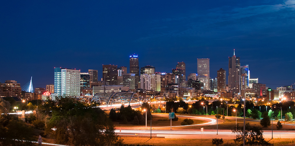 This is a luminous cityscape shot of my home, Denver Colorado.<br /> <br /> Camera <br /> NIKON D5000<br /> Lens <br /> Nikon 35mm 1.8<br /> Focal Length <br /> 35<br /> Shutter Speed <br /> 10<br /> Aperture <br /> 6.7<br /> ISO <br /> 200