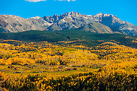 Fall color, San Juan Mountains, near Telluride, Colorado USA.