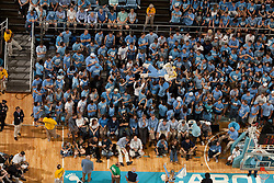 "CHAPEL HILL, NC - FEBRUARY 27: ""Ramses"", mascot of the North Carolina Tar Heels surfs the crowd in the student section while playing the Maryland Terrapins on February 27, 2011 at the Dean E. Smith Center in Chapel Hill, North Carolina. North Carolina won 76-87. (Photo by Peyton Williams/UNC/Getty Images) *** Local Caption *** Ramses"