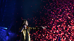 Mick Jagger from The Rolling Stones performs on stage during Barclaycard British Summer Time in Hyde Park, London.