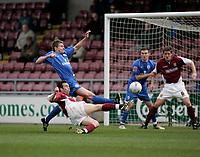 Photo: Marc Atkins.<br /> <br /> Northampton Town v Rochdale. Coca Cola League 2. 08/04/2006. Scott McGliesh scores Northampton's 2nd