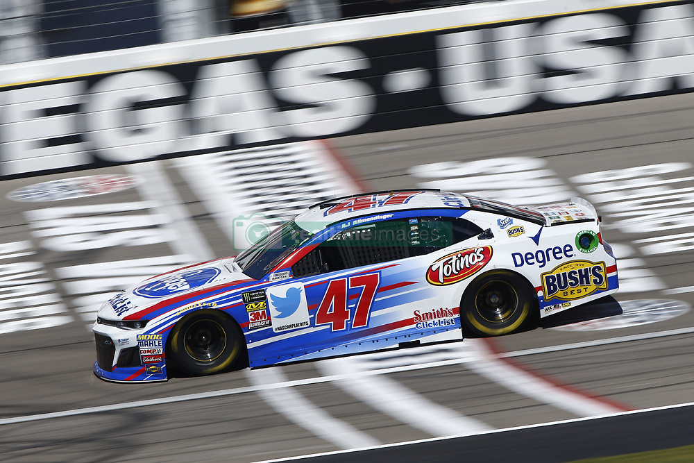 September 14, 2018 - Las Vegas, Nevada, United States of America - AJ Allmendinger (47) brings his race car down the front stretch during practice for the South Point 400 at Las Vegas Motor Speedway in Las Vegas, Nevada. (Credit Image: © Chris Owens Asp Inc/ASP via ZUMA Wire)