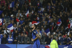 October 10, 2017 - Paris, France - Joy for Olivier Giroud of France as he puts his side 2-0 ahead during the Fifa 2018 World Cup qualifying match between France and Belarus on October 10, 2017 in Paris, France. (Credit Image: © Elyxandro Cegarra/NurPhoto via ZUMA Press)