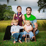 Images of Jannette Finch, Cal Sinkler and family in West Ashley near Charleston, SC