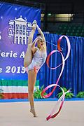 Ekaterina Selezneva atleta della società Putinati di Ferrara durante la seconda prova del Campionato Italiano di Ginnastica Ritmica.<br /> La gara si è svolta a Desio il 31 ottobre 2015.<br /> Ekaterina è una ginnasta di origini russe nata nel 1995.