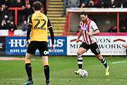 Tom Parkes (15) of Exeter City on the attack during the EFL Sky Bet League 2 match between Exeter City and Cambridge United at St James' Park, Exeter, England on 11 January 2020.