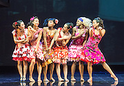 "07/08/2013. ""WEST SIDE STORY"" returns to Sadler's Wells Theatre from Wednesday 7 August - Sunday 22 September 2013. This production is directed and choreographed by Joey McKneely using the full original Jerome Robbins choreography. Picture shows: Penelope Armstead-Williams (Anita) and the Shark Girls."