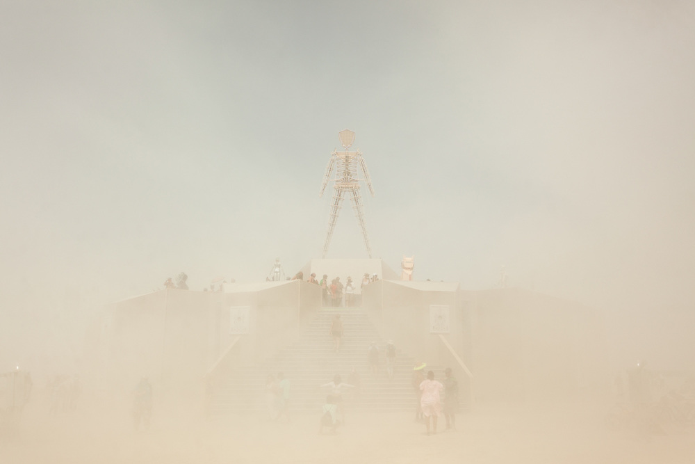 I love it when the dust erases everything but a few things. As a photographer it's like mother nature doing the photoshop work for me. It destroys my camera gear but that's why I shoot these kinds of photos with a piece of shit old camera that owes me nothing... My Burning Man 2018 Photos:<br />