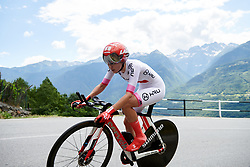 Juliette Labous (FRA) during Stage 6 of 2019 Giro Rosa Iccrea, a 12.1 km individual time trial from Chiuro to Teglio, Italy on July 10, 2019. Photo by Sean Robinson/velofocus.com