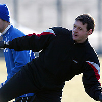 St Johnstone Training...10.01.03    Alan Main still at St Johnstone despite all the rumours messing around during training this morning in the bitter cold<br />