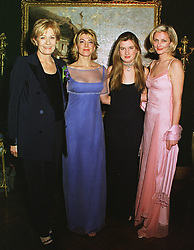 Left to right, actress VANESSA REDGRAVE, actress NATASHA RICHARDSON, MISS KATHARINE GRIMOND and actress JOELI RICHARDSON, at a party in London on 22nd February 1999.MON 34