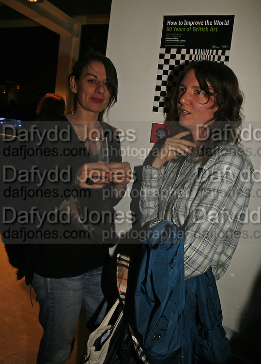 Rebecca Warren and Polly Staple, Art Monthly 30th birthday party. Hayward Gallery. 26 October 2006. -DO NOT ARCHIVE-© Copyright Photograph by Dafydd Jones 66 Stockwell Park Rd. London SW9 0DA Tel 020 7733 0108 www.dafjones.com