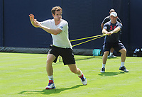 Tennis - 2017 Aegon Championships [Queen's Club Championship] - Day One, Monday<br /> Andy Murray training session<br /> <br /> Men's Singles, Round of 32<br /> Andy Murray warms up before training on Court 7.<br /> <br /> COLORSPORT/ANDREW COWIE