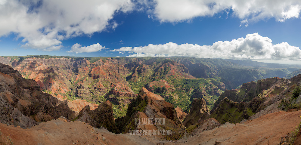 Waimea Canyon is a huge, colorful gash in the heartland of Kauai.