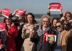 Scottish Labour leader Kezia Dugdale joined local Labour council candidate Maureen Child and party activists for some last minute campaigning on Portobello Prom Pictured: Kezia Dugdale, Maureen child and party activists<br /> <br /> <br /> © Jon Davey/ EEm