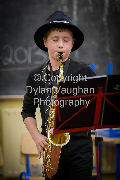 "Repro Free No charge for Repro..9/3/2013.9/3/2013.Pictured at the Kilkenny Music Festival Competition for Primary Schools at St Canice's Co-Ed Primary School was Daragh Maher aged 12 from Kilkenny part of a group called "" The Swingin Katz "" .Picture Dylan Vaughan. .Picture Dylan Vaughan."