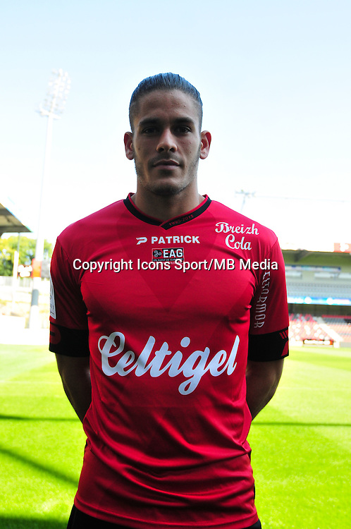 Dorian Leveque - 10.09.2015 - Portrait Officiel Guingamp - Ligue 1<br /> Photo : Philippe Le Brech / Icon Sport