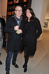 HARRY ENFIELD and TRISH SIMONON at a private view of work by Mat Collishaw - 'This is Not an Exit' held at Blaine/Southern, 4 Hanover Square, London on 13th February 2013.