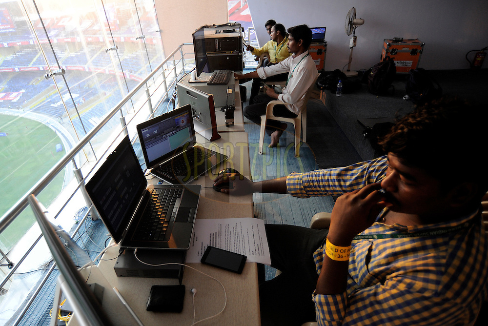 LED control rooms during match 36 of the Indian Super League (ISL) season 2  between Mumbai City FC vs FC Pune City held at the D.Y. Patil Stadium, Navi Mumbai, India on the 13th November 2015.<br /> <br /> Photo by Pal Pillai / ISL/ SPORTZPICS