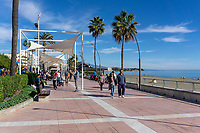 Promenade, paseo maritimo, Estapona, Malaga Province, Spain, December, 2018, 201812080115<br />