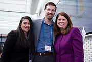 Patricia Wooldridge and Brent Benner from GrowthChart Records and DFI Secretary Kathy Blumenfeld at the Wisconsin Entrepreneurship Conference at Venue 42 in Milwaukee, Wisconsin, Wednesday, June 5, 2019.