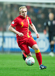 SWANSEA, WALES - Tuesday, March 26, 2013: Wales' Jonathan Williams in action against Croatia during the 2014 FIFA World Cup Brazil Qualifying Group A match at the Liberty Stadium. (Pic by David Rawcliffe/Propaganda)
